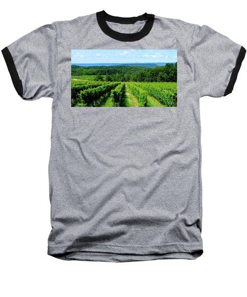 Grapevines On Old Mission Peninsula - Traverse City Michigan Baseball T-Shirt