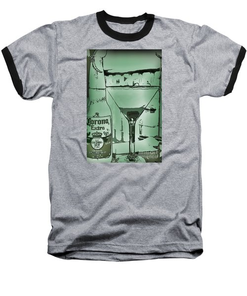 Baseball T-Shirt featuring the photograph Graphic Refreshments by Pamela Blizzard