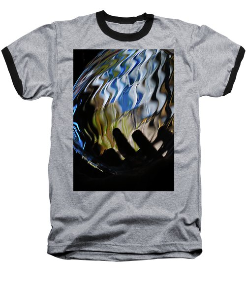 Baseball T-Shirt featuring the photograph Grasping At Curves by Susan Capuano