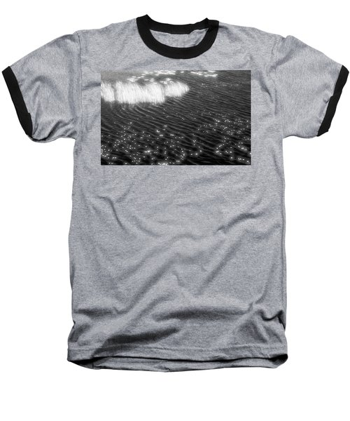 Grass And Water And Lilly Pads Bw2  Baseball T-Shirt