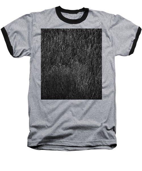 Grass Black And White Baseball T-Shirt