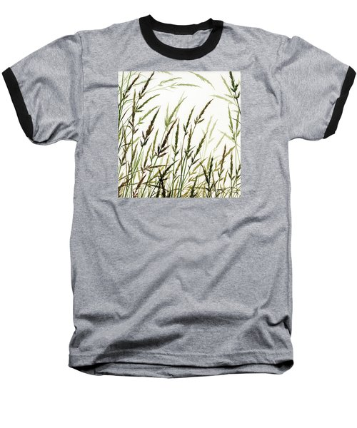 Baseball T-Shirt featuring the painting Grass Design by James Williamson