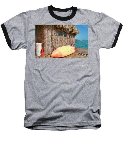 Grass Hut On Ambergris Caye Belize Baseball T-Shirt