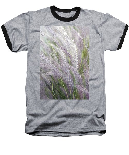 Baseball T-Shirt featuring the photograph Grass Is More - Nature In Purple And Green by Ben and Raisa Gertsberg