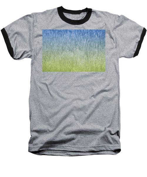 Grass On Blue And Green Baseball T-Shirt