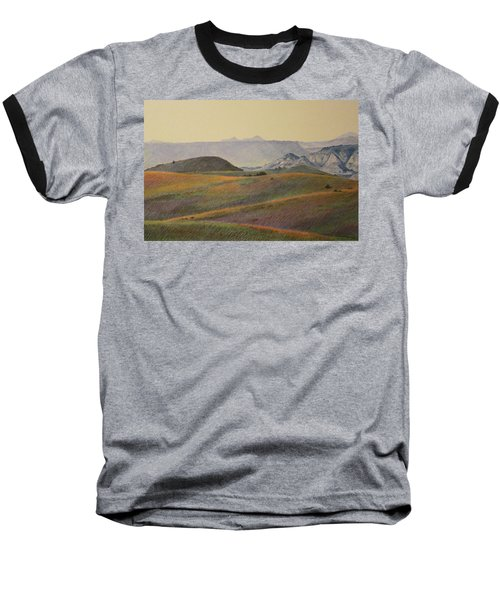 Grasslands Badlands Panel 2 Baseball T-Shirt