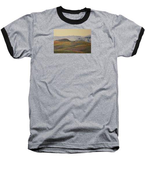 Grasslands Badlands Panel 2 Baseball T-Shirt