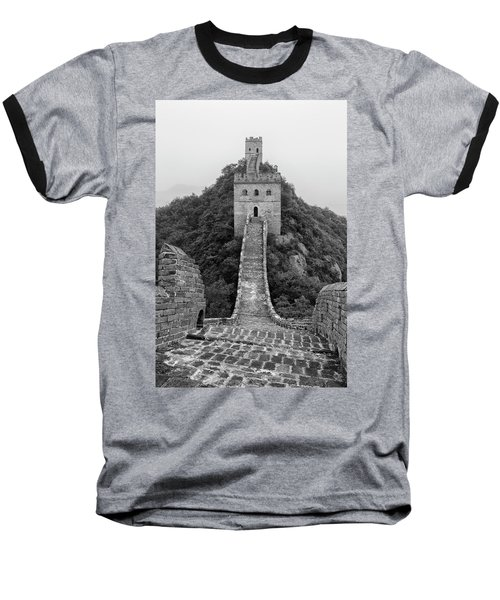 Baseball T-Shirt featuring the photograph Great Wall 1, Jinshanling, 2016 by Hitendra SINKAR