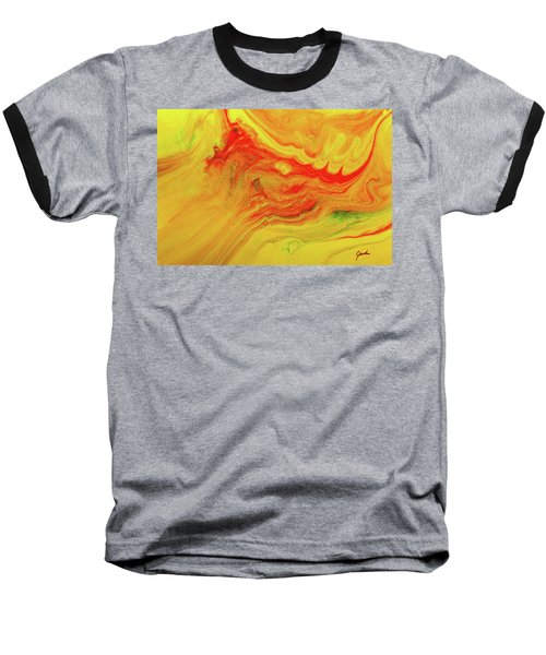Gratitude - Red And Yellow Colorful Abstract Art Painting Baseball T-Shirt