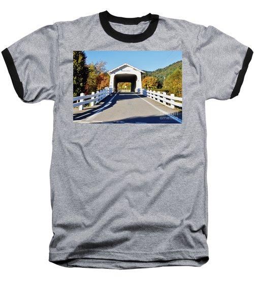 Grave Creek Covered Bridge 1 Baseball T-Shirt by Ansel Price