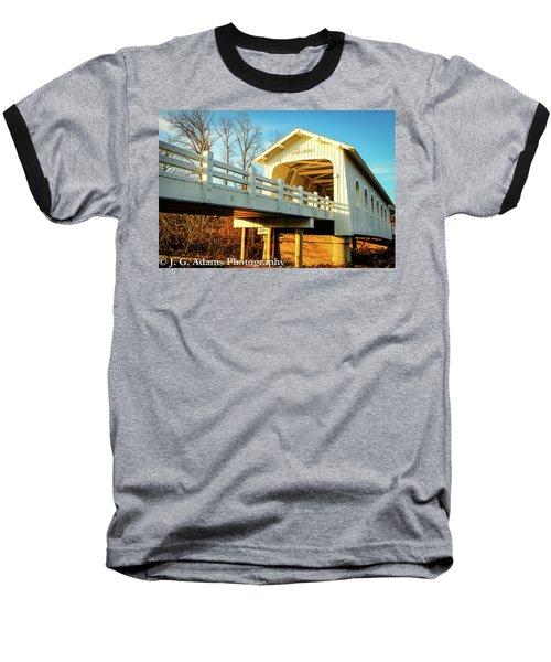 Grave Creek Covered Bridge Baseball T-Shirt