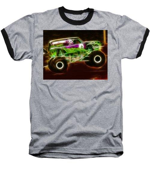 Grave Digger Monster Truck Baseball T-Shirt