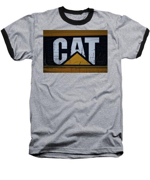 Gravel Pit Cat Signage Hydraulic Excavator Baseball T-Shirt