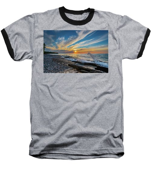 Graveyard Coast Sunset Baseball T-Shirt