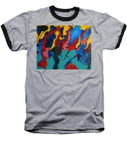 Gravity Prevails Baseball T-Shirt by Bernard Goodman