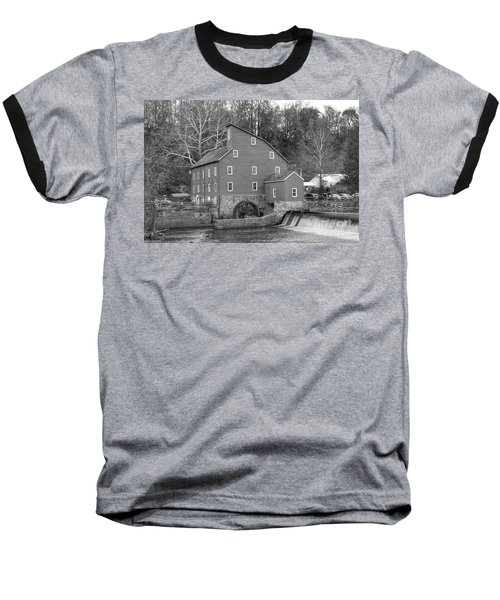 Gray Autumn At The Old Mill In Clinton Baseball T-Shirt