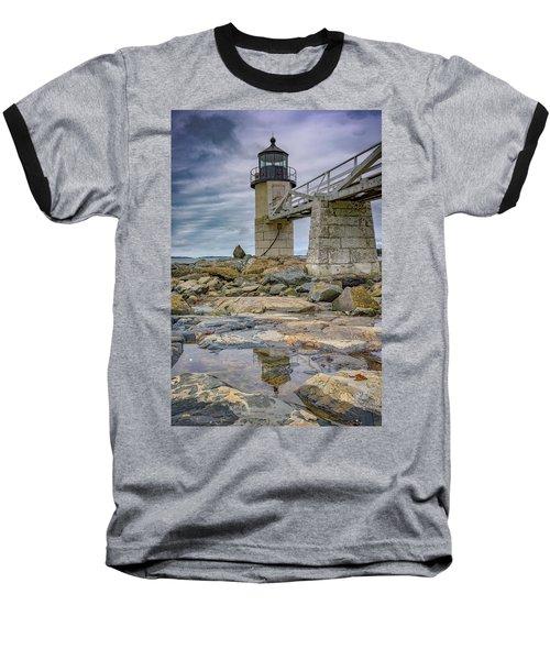 Baseball T-Shirt featuring the photograph Gray Day At Marshall Point by Rick Berk