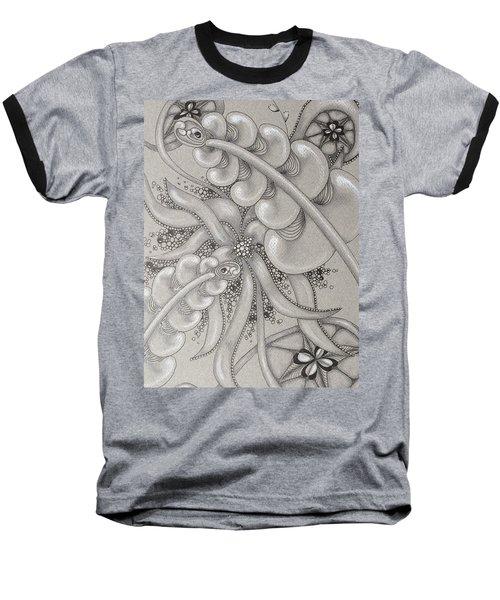 Gray Garden Explosion Baseball T-Shirt by Jan Steinle