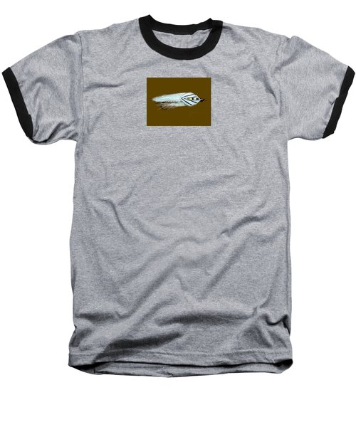 Baseball T-Shirt featuring the painting Gray Ghost by Jean Pacheco Ravinski