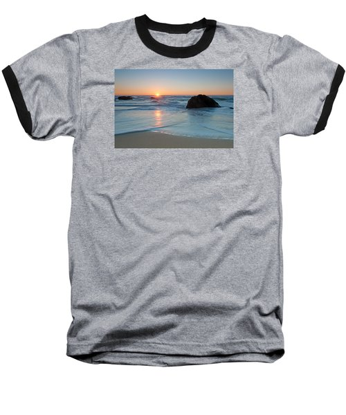 Gray Whale Cove State Beach 2 Baseball T-Shirt by Catherine Lau