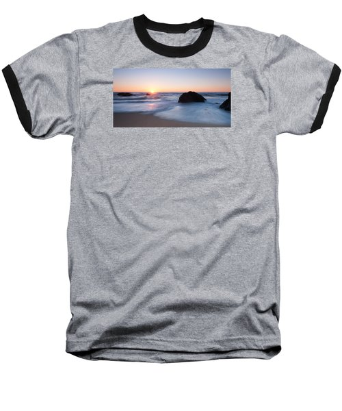 Gray Whale Cove State Beach 3 Baseball T-Shirt by Catherine Lau