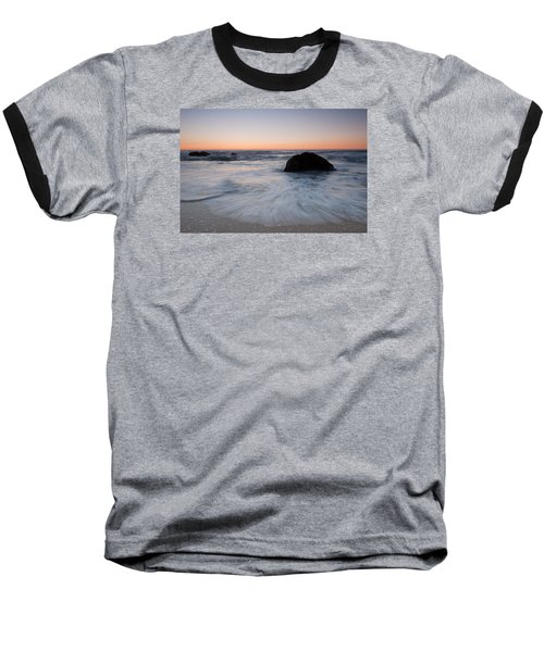 Gray Whale Cove State Beach Baseball T-Shirt by Catherine Lau