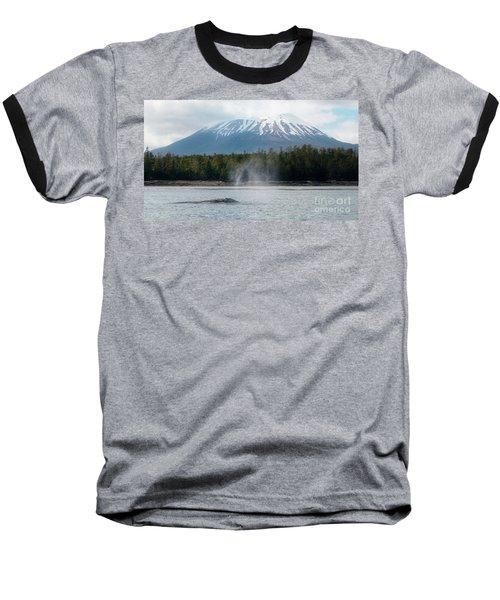 Gray Whale, Mount Edgecumbe Sitka Alaska Baseball T-Shirt
