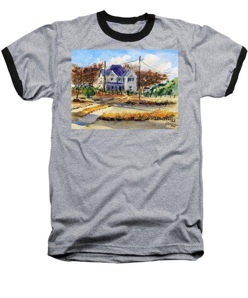 Grayson County Farmhouse Baseball T-Shirt by Ron Stephens