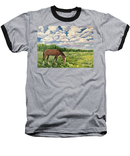 Grazing Among The Daisies Baseball T-Shirt