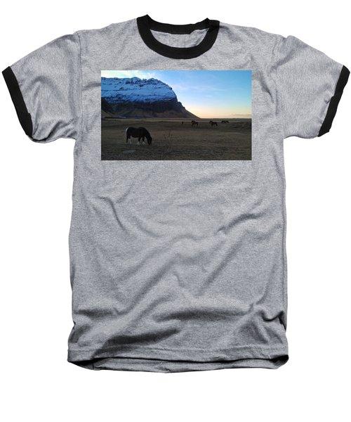 Grazing At Dawn Baseball T-Shirt
