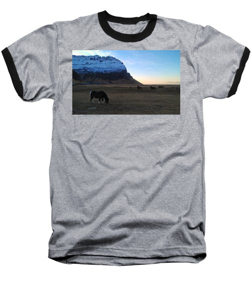 Grazing At Dawn Baseball T-Shirt