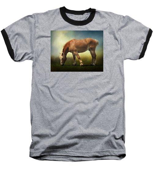 Grazing Belgian Baseball T-Shirt by David and Carol Kelly