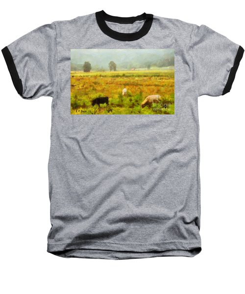 Baseball T-Shirt featuring the painting Grazing by Elizabeth Coats