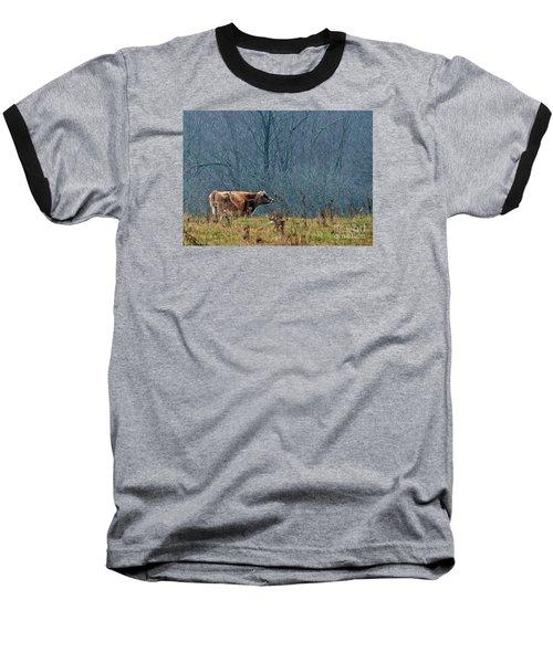 Grazing In Winter Baseball T-Shirt