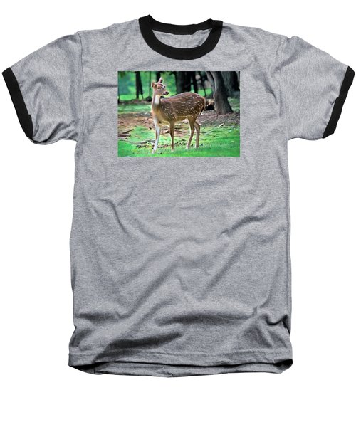 Baseball T-Shirt featuring the photograph Grazing by Marion Johnson