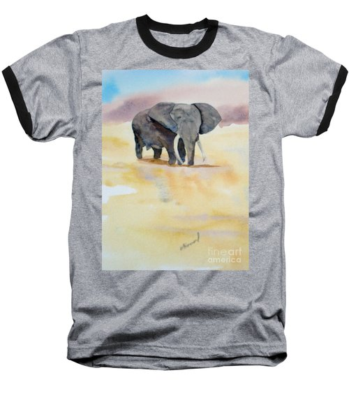 Baseball T-Shirt featuring the painting Great African Elephant  by Vicki  Housel