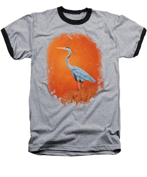 Great Blue Abstract 2 Baseball T-Shirt