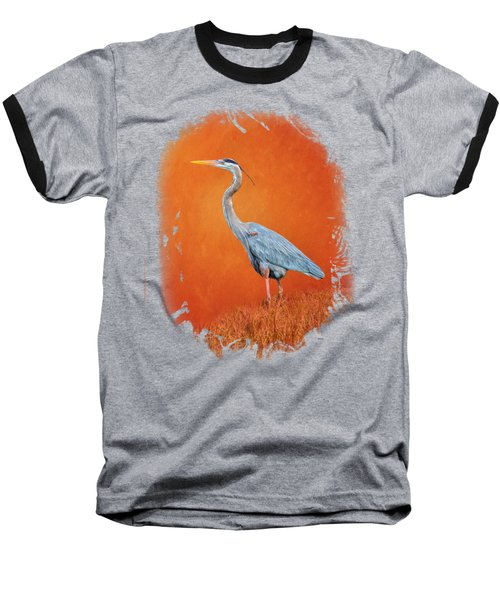 Great Blue Abstract 2 Baseball T-Shirt