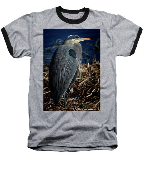 Baseball T-Shirt featuring the photograph Great Blue Heron 2 by Randy Hall