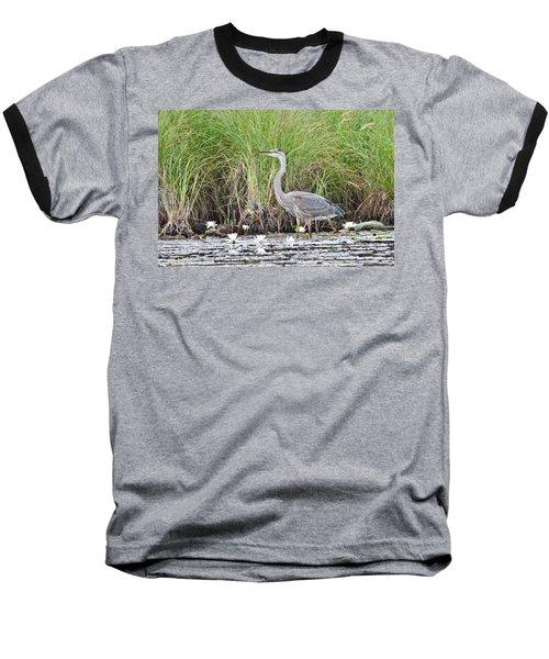 Great Blue Heron 6209 Baseball T-Shirt