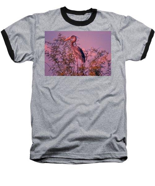 Great Blue Heron - Artistic 6 Baseball T-Shirt