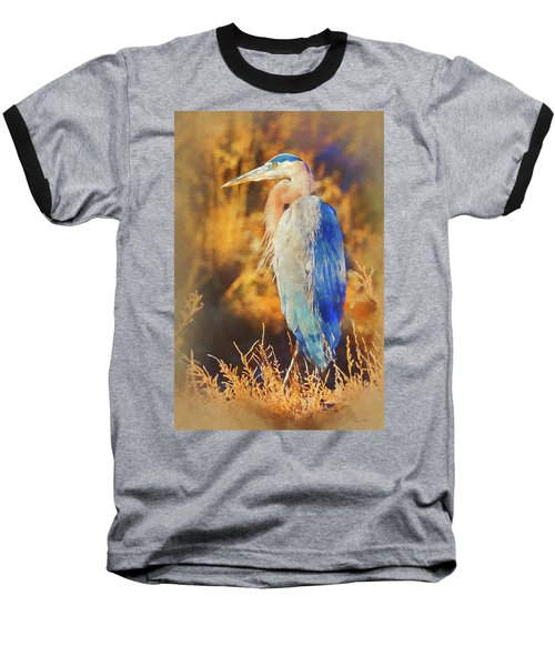 Baseball T-Shirt featuring the photograph Great Blue Heron by Bellesouth Studio