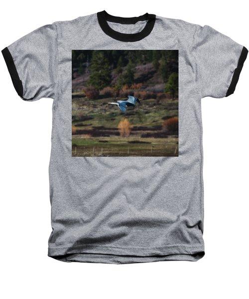 Great Blue Heron In Flight II Baseball T-Shirt