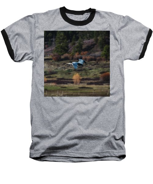 Great Blue Heron In Flight II Baseball T-Shirt