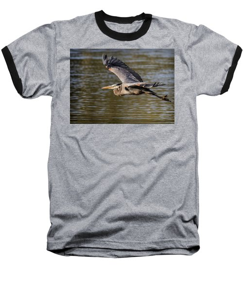 Great Blue Heron In Stratford Baseball T-Shirt