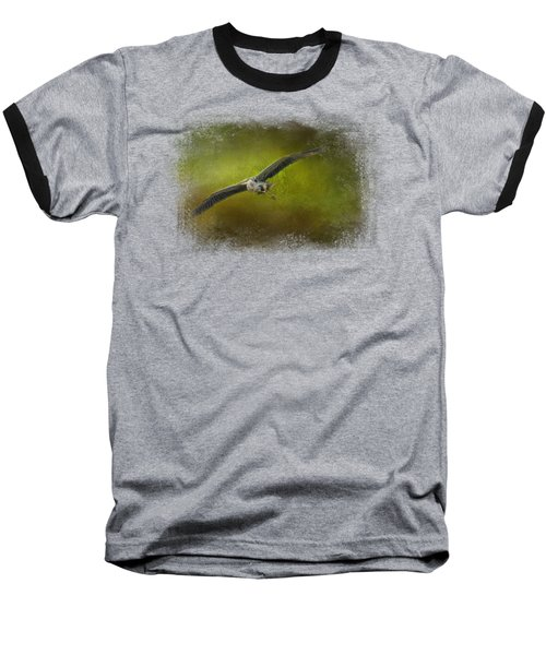 Great Blue Heron In The Grove Baseball T-Shirt by Jai Johnson