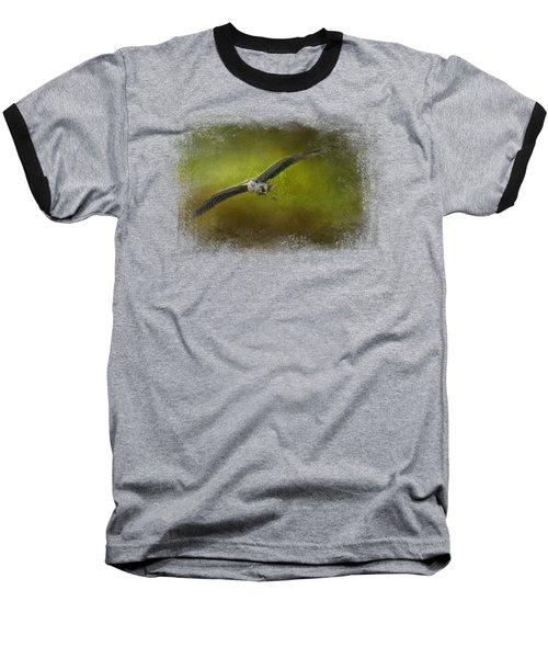 Great Blue Heron In The Grove Baseball T-Shirt