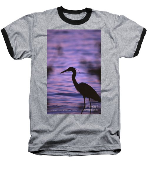 Great Blue Heron Photo Baseball T-Shirt