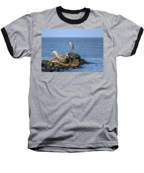 Great Blue Heron On Chesapeake Bay Baseball T-Shirt