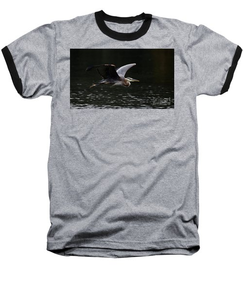 Graceful Great Blue Heron  Baseball T-Shirt